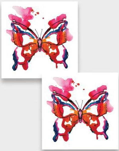 Temporary tattoo Butterfly 2 pcs.
