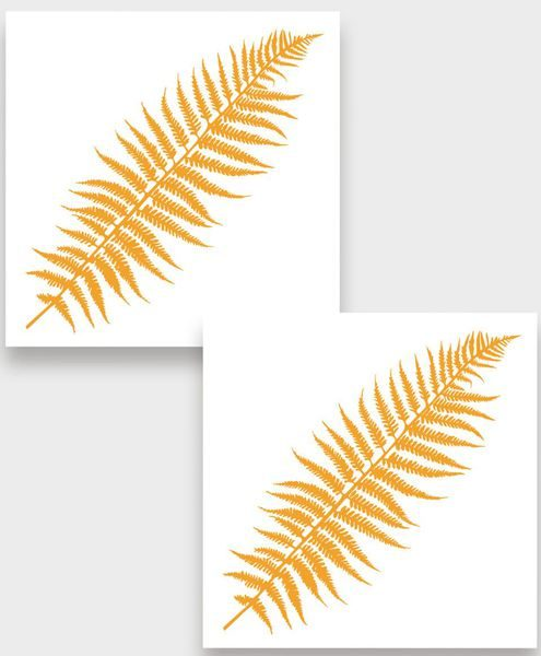 Temporary tattoo Golden fern 2 pcs.